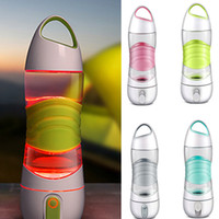 Wholesale Plastic Sports Water Bottles Wholesale - LED Light Smart Water Bottle Tracks Water Intake Glows to Remind You to Stay Night lights Sos Emergency Sport Mug Cup Kettle XL-456