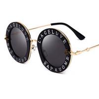 marcas de óculos de sol de boa qualidade venda por atacado-Chegada nova Moda Rodada Óculos De Sol Da Marca de design para as mulheres Marca Designer de boa qualidade óculos de sol Oval viajar Moda óculos para as mulheres