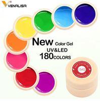 uñas de gel para la venta al por mayor-Venta caliente Color Gel Pintura Empapa de Nail Art led esmalte de uñas brillo de uñas arco iris Pintura Gel