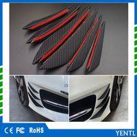 Wholesale carbon fiber bumpers for sale - Group buy YENTL Universal Carbon Fiber Car Front Bumper Fin Splitter Spoiler Canard Valence Lip Rubber Fin car styling Lip