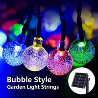 Led Energy Star for sale - Solar lamp string 30LED bubble bead series Festival wedding outdoor courtyard decoration energy saving waterproof color lamp