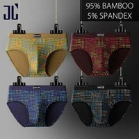 Wholesale male sleepwear underwear - Jl Brand Men Underwear Bikini Briefs Male Underpants 4 Pack Comfortable Men 'S Sexy U Convex Panties Soft Sleepwear Masculina Gay