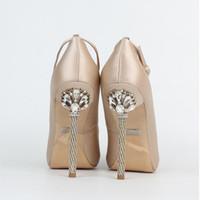Wholesale wedding shoes sandals crystal heels for sale - Designer Women Heels Shoes Bridal Crystal Shoes Wedding Shoes For Bridal Peep Toe High Heel Sandals