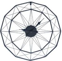 art mural de fer moderne achat en gros de-Homingdeco 60 cm Grande Horloge Murale Design Moderne Horloges Pour La Maison Décor Iron Art Rétro Style Européen Suspendus Horloges Murales