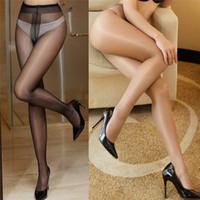 satin yarn 2018 - Women's Stockings Women's sexy oil Shiny Glossy Classic pantyhose yarns sexy satin Stockings Girl Ladies Fitness Pantyhose