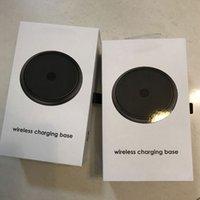 ingrosso rilievi di mop-MOP Caricabatterie wireless con base di ricarica wireless Caricabatterie wireless veloce per iPhone X 8 8P con scatola al dettaglio di alta qualità