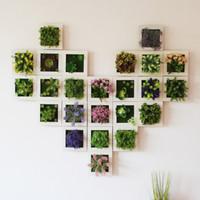 ingrosso fiori artificiali soggiorno-Simulazione Plant Photo Frame Wall Hanging 3D tridimensionali carnosi fiori artificiali originalità soggiorno cornici 11 49ly gg