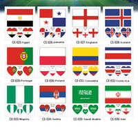 Wholesale Body 3d - 2018 FIFA World Cup Tattoo Sticker National Flag Banners Russia Football Match Soccer Fans Face Wrist Body Stickers