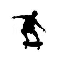 etiquetas do corpo do carro venda por atacado-Esportes de Skate À Prova D 'Água Decalques Do Carro Decalques de Parede De Vidro Da Porta de Vidro Da Janela Do Carro Janela Traseira Etiqueta Do Carro
