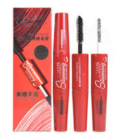 Wholesale black slender - FLAMINGO Mascara Makeup Eyes thick slender cruling long-lasting natural fast dry lengthening and moisturizer FREE SHIPPING
