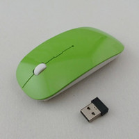 Wholesale desktop wireless - 2018 Ultra Thin USB Optical Wireless Mouse 2.4G Receiver Super Slim Mouse for Computer PC Laptop Desktop 5 Candy Color