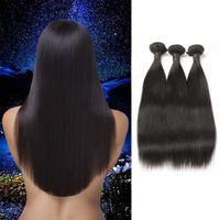 extensión de pelo indio recta real al por mayor-9A Big Deal Real Indian Paquetes de cabello humano Extensiones de cabello virginal sin procesar virgen 3 paquetes en venta