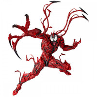 Wholesale superheroes toys resale online - Superhero Red Venom Action Figure Carnage Plastic Doll toys kids Avengers Cartoon game spiderman venom Figure Toy Home Decor GGA1236