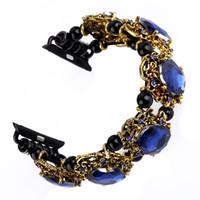 ingrosso braccialetto di perle guarda le donne-Cinturino cinturino Bling per cinturino Apple Watch 38 / 42mm Series 4 2 3 Cinturino cinturino gioiello per donna Luxury Diamond Cinturino agata per iwatch 40 / 44mm