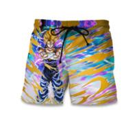 шары для пляжа оптовых-Новая мода короткие брюки Dragon Ball Z Гоку печатает 3D шорты женщины мужчины Hipster пляжные шорты Бесплатная доставка YE003