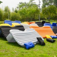 Wholesale mattress bedroom - 6 Colors 135*85*40cm Outdoor Camping Car Back Seat Cover Air Mattress Travel Mat Bed Inflatable Mattress Air Inflatable Car Bed CCA9672 5pcs