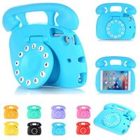 Wholesale Telephone Cases - For Ipad Mini Children Telephone Handle Cover EVA Foam Shockproof Cases Stand Holder Kids Friendly Non-toxic Case For Ipad Mini 1 2 3 4