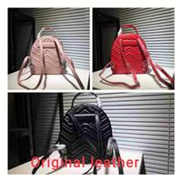 sırt çantası poşetleri gerçek deri toptan satış-Yüksekliği kaliteli Marmont Sırt Çantası Tasarımcı Sırt Çantası Lüks Çanta Ünlü Markaların çanta Gerçek Orijinal Dana Deri Lüks Sırt Çantası