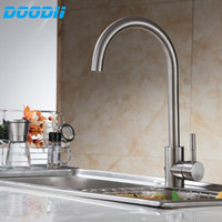 Wholesale led sink light online - 304 Stainless Steel No Lead Kitchen Sink Faucet Sink Tap Swivel Mixer Kitchen Bathroom Faucet Doodii