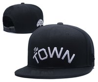 Wholesale Wholesale Hats Usa - Hot Sale 2018 New Snapback Football Caps The Town Snapbacks Hats USA College Cartoon Logo Adjustable Caps Fashion Hip Hop Drop Ship