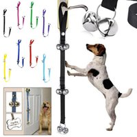 Wholesale Pet Tie Outs - Pet Doorbell Rope Dog Training Tool Pet Cat Tinkle Bell Toy Puppy House Training Bells Adjustable Rope Tinkle OOA3995
