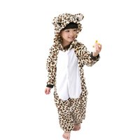 2accaaa430 Meninos Meninas Flanela Animal Dos Desenhos Animados Pijama Onesie Pijamas  Do Bebê animal quente Crianças leopardo Crianças Sleepwear para 4 6 8 10 12  Anos