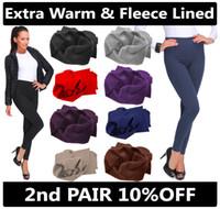 Wholesale thermal leggings wholesale - New Women Ladies Winter Elastic High Waist Fleece Thermal Warm Thick Full Length Slim Skinny Leggings Colours