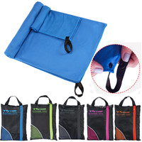 Wholesale quick dry towel microfiber - Microfiber Soft Quick Dry Towel With Bag For Gym Swimming Yoga Travel Sports Beach Towels Supplies NNA112