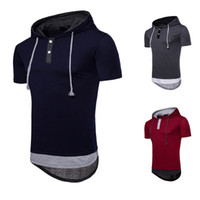 Wholesale mans clothings online - Male Clothings Eur Size Top Tee Large Yard Hooded Longlines Hip Hop Male T shirt S XL High Streetwear