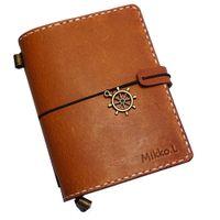 stitch notebook venda por atacado-Passaportes de couro genuíno notebook passaporte agenda diário livro ponto handmade caderno defter caderno sketchbook caderno de jornal
