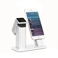 izlemek toptan satış-Moda 2 in1 Apple iPhone Samsung için Şarj Dock Masaüstü Sehpa iPhone se için Standı 6/6 S / 7 artı telefon tutucu