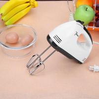 mischer haushalt großhandel-Praktische elektrische Schneebesen Edelstahl Kunststoff Eierschale Whisk Kuchen Creme Backen Mixer 7 Schalt Küche Kochen Werkzeuge