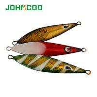 Wholesale slow jig lures online - 1PC Slow Jig Lead Fish g g Luminous Sea Fishing Jig Lure Hard Lead Fish Fishing Lures Pesca Artificial Bait