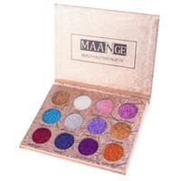 Wholesale radiant cosmetics for sale - 50pcs MAANGE Eyeshadow Colors Palette Glitter Pressed Glitters Eyeshadow Diamond Rainbow Pallete Makeup Palette By Cosmetics DHL free