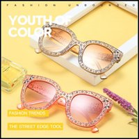 Wholesale pc mirror accessories online - 7 Colors Retro Star Accessory Sunglasses Women Crystal Square Sunglasses Mirror Retro Full Star Sun Glasses Female Shades CCA9232