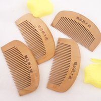 Wholesale mahogany hair online - Beauty girl Women s Natural Wide Tooth Peach Wood No static Massage Hair Mahogany Comb NEW Drop Shipping A25