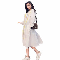 Wholesale sun protection women s clothing for sale - 2018 Summer Ladies Windbreaker Sun Protection Clothing Long Section Korean New Hooded Wild Loose Temperament Women Fashion ZTT47