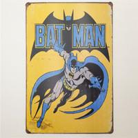 Wholesale batman sign resale online - Batman Vintage Metal Signs Home Decor Cafe Bar Decoration Pub Decorative Metal Wall Art Plates Tin Sign Retro x30cm