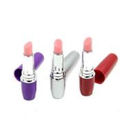 discreto mini bala vibrador al por mayor-Lipstick Vibe Discreto Mini Bullet Vibrador Lápices Labiales Vibrantes Lápiz Labial Saltar Huevos Juguetes Sexuales Productos Sexuales para mujeres