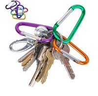 Wholesale Ve Key - Outdoor Sports Travel Camping Climbing D Shape Aluminum Alloy Clip Key Chain Snap Carabiner Durable Hook BBA264