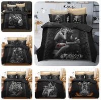 Wholesale queen skull bedding online - Beauty and Skull Bedding Set Duvet Cover Skull Print Duvet Cover Set with Pillowcase