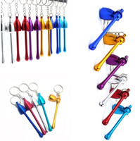 Wholesale aluminum pipes for sale - Group buy 120pcs Smoking Pipes Mini Keychain Mushroom styles Smoking Accessories Ultimate Pipe Mini Aluminum Metal Keychain smoking Pipe Gift I177
