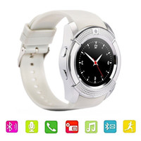 Wholesale answer gear - 2018 fashion watches v8 smartwatch android touchscreen bluetooth iPhone wrist watch Samsung gear wear