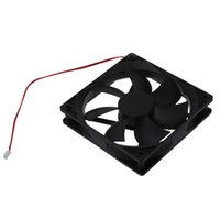 12v soğutucu fan 2pin toptan satış-Bilgisayar Kasası için 120mm x 25mm 12V 2Pin Kollu Rulman Soğutma Fanı