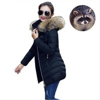 Wholesale Black Giraffe - Women's Winter Clothes 2017 Fashion Season Jacket Women's Giraffe Collar Jacket Hooded Fur Women winter large jackets