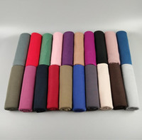 Wholesale jersey wraps - 28 Colors Solid Color Jersey Scarves Soft And Comfortable Classic Wild Autumn And Winter Warm Muslim head wrap Scarves scarf BBA6