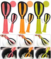 Wholesale rice tool resale online - Silicone Spoon Rotatable Non Stick Rice Scoop Multi Function Egg Beater Kitchen Tool New Arrive ho C