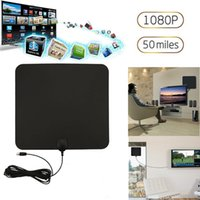 Wholesale wholesale tv antennas - 50 Miles HD Digital Indoor ATSC VHF UHF HDTV TV Amplified Antenna Signal High Gain Aerial 28DB with Amplifier Signal Booster 13ft