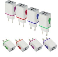 Water-drop LED Dual USB Ports Home Travel Power Adapter cheapest fatest charger wall plug AC US EU Plug Wall Charger For iPhone Samsung