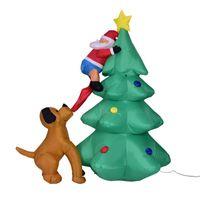 şişme bebek yeni toptan satış-2018 Yeni Noel 1.8 M Işık Şişme Sahne Alışveriş Merkezi Ev Bahçe Süslemeleri Şişme Bebek Noel Dekorasyon